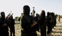 Captura de un vídeo producido en Gaza por el Ejército Islámico Palestino (EIP), en el que sus militantes juran lealtad al 'califa' Abu Baker al Bagdadi.