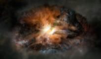 Gráfico de la galaxia W2246-0526 divulgada el 15 de enero de 2016 por el Observatorio Europeo Austral en Chile