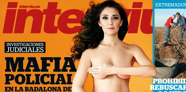 Carmen López posa desnuda en la portada de Interviu