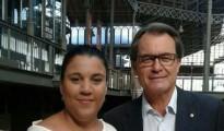 Judit Masgrau y Artur Mas