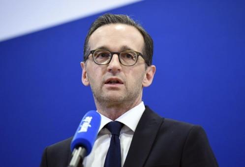 El ministro de Justicia alemán, Heiko Maas, durante una rueda de prensa en Berlín (Alemania) sobre la investigación de los asaltos de la pasada Nochevieja.