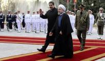 Nicolás Maduro con su colega iraní Hasan Rohani