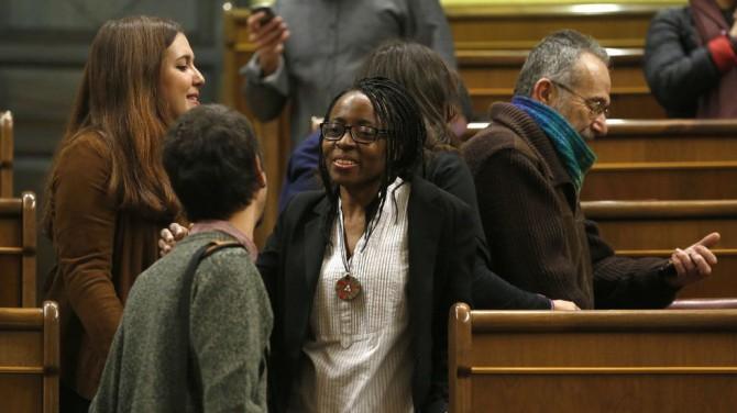 Rita Bosaho, número 1 de Podemos-Compromís-Es el momento por Alicante, es la primera diputada negra de España