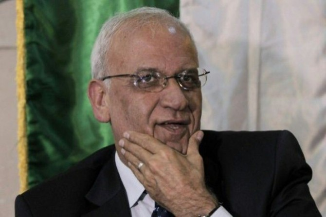 El jefe negociador palestino Saeb Erekat