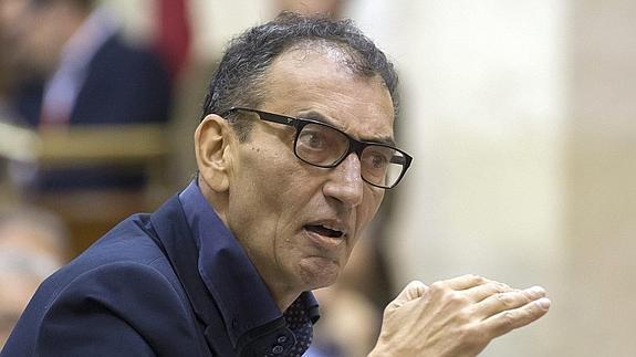 José Luis Serrano, presidente del grupo de Podemos en el Parlamento andaluz.