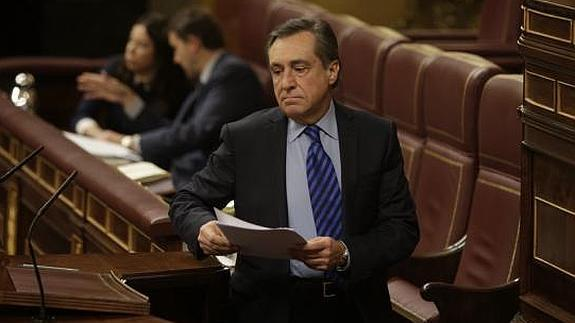 Xabier Agirre (PNV), en la tribuna del Congreso.