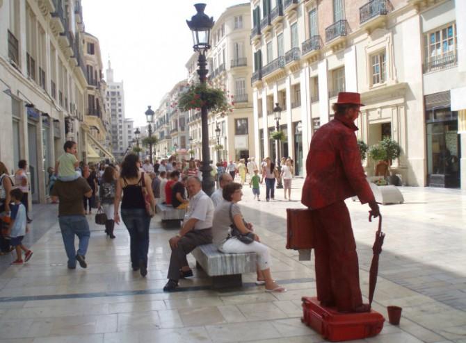 Imagen de la calle Larios, en Málaga