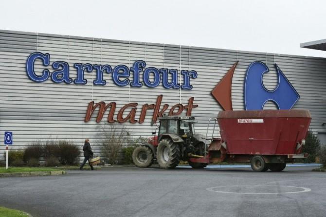 Un supermercado del grupo Carrefour en la localidad de Dol-de-Bretagne, al oeste de Francia, el pasado 4 de febrero