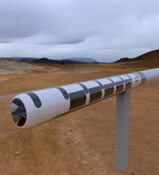 Fotografía facilitada por la Universidad Politécnica de Valencia del proyecto Hyperloop, una cápsula que se mueve a 1.200 kilómetros por hora dentro de un tubo de acero
