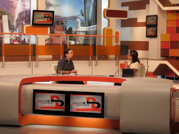 Pablo Iglesias en la televisión pública venezolana