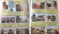La doble página de la publicación.