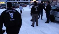 Un grupo de Soldados de Odín, fotografiados en Kemi, en el norte de Finlandia, el 5 de febrero de 2016