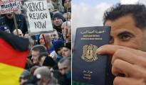 Izquierda: Una nueva encuesta muestra que casi la mitad de los alemanes quiere la dimisión de la canciller Ángela Merkel debido a su política migratoria de puertas abiertas. Derecha: La Interpol tiene datos de 250.000 pasaportes sirios e iraquíes robados o perdidos, incluyendo pasaportes que están en blanco.
