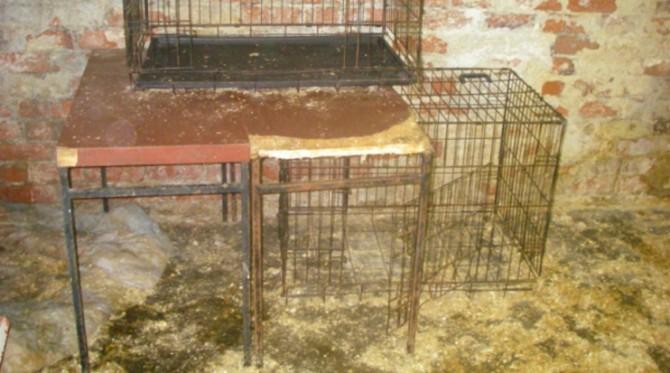 Jaulas donde los animales eran encerrados
