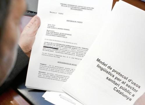 La Generalitat envió un email en 2012 a los funcionarios para informarles del protocolo de usos lingüísticos