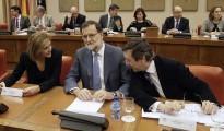 Cospedal, Rajoy y Hernando.