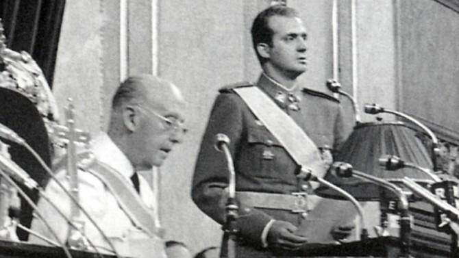 Juramento y proclamación como príncipe heredero de Juan Carlos de Borbón el 23 de julio de 1969