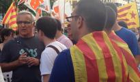 Joan Ribó, en un acto pidiendo la independencia de Cataluña