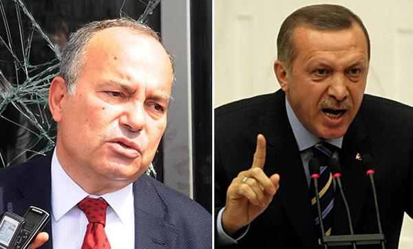 Se ha abierto una causa penal contra Sedat Ergin (izquierda), redactor jefe de Hurriyet, el más influyente diario turco. La acusación pide hasta cinco años de cárcel para Ergin, por presuntamente insultar al presidente Recep Tayyip Erdogan (derecha).