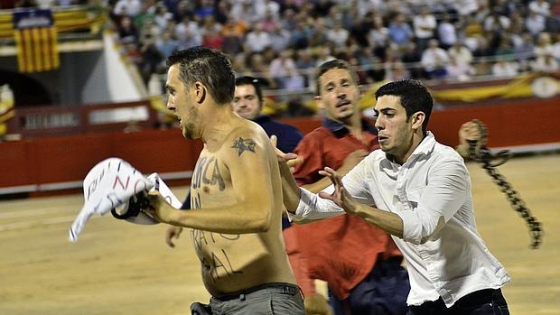 Un antitaurino saltó al ruedo de Palma el pasado agosto
