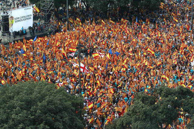 Manifestación por la unidad de España en Barcelona