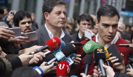 Gómez Besteiro y Pedro Sánchez, en La Coruña.