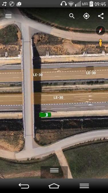 Croquis del puente y la autovía donde se produjo el suceso