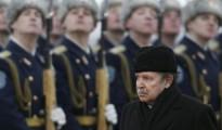 El presidente argelino durante su visita a Rusia.