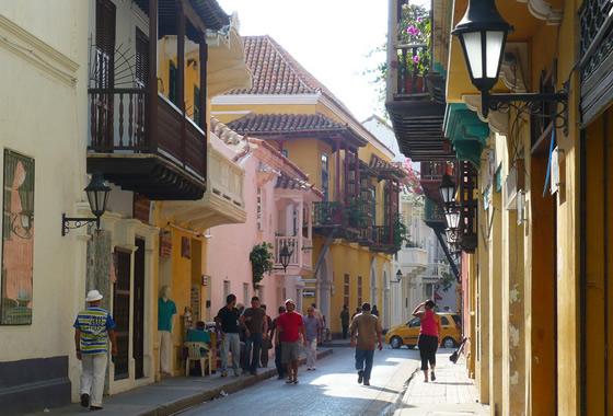 Edificios coloniales españoles en Cartagena de Indias (Colombia)