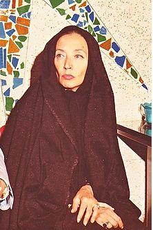 Fallaci con ocasión de su entrevista a Jomeini
