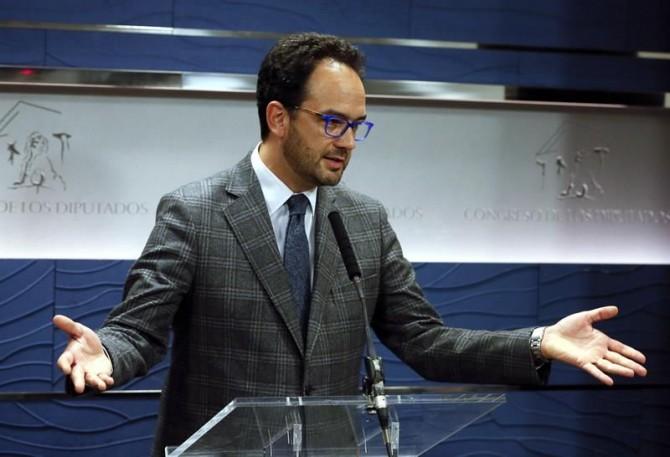 El portavoz del PSOE, Antonio Hernando.