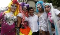 Transexuales celebrando el Día del Orgullo Gay en Santiago (Chile)