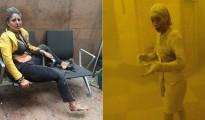 22 de marzo de 2016: Nidhi Chaphekar, cubierta de polvo tras un ataque terrorista en Bruselas   11 de septiembre de 2001: Marcy Borders, cubierta de polvo tras un ataque terrorista en Nueva York
