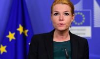 La ministra de Inmigración danesa, Inger Stojberg, ofrece una rueda de prensa en Bruselas el 6 de enero de 2016