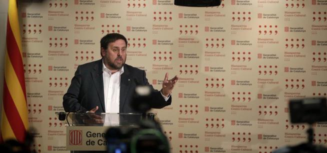 El vicepresidente y 'conseller' económico de la Generalitat, Oriol Junqueras.