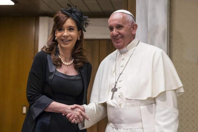 El Papa, con Cristina Kirchner