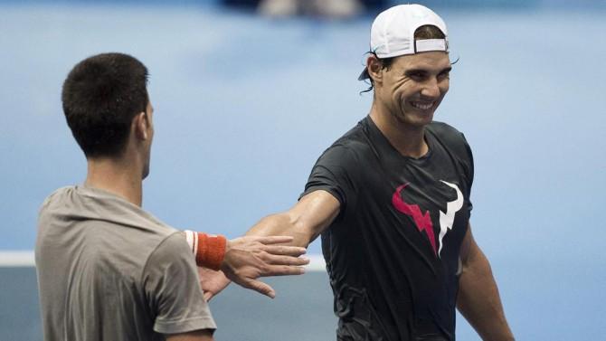 Novak Djokovic junto a Rafa Nadal