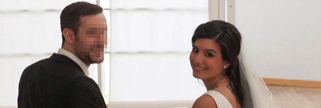 Jennifer García Scintu, en una imagen de su boda