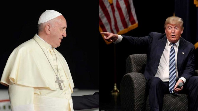 El papa Francisco y Donald Trump, en dos imágenes de actos recientes