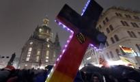 Manifestantes alemanes contra el islam