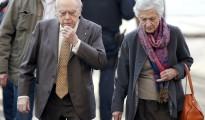 Jordi Pujol y su esposa Marta Ferrusola a su llegada a los juzgados