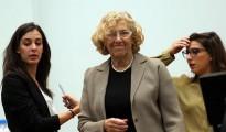 Rita Maestre, portavoz de Ahora Madrid, y Manuela Carmena, alcaldesa de Madrid,