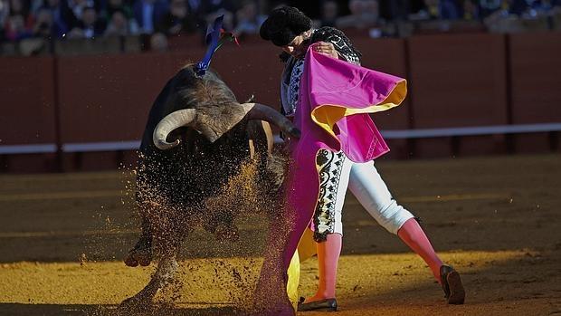 Morante de la Puebla, en la corrida del pasado Domingo de Resurrección en Sevilla