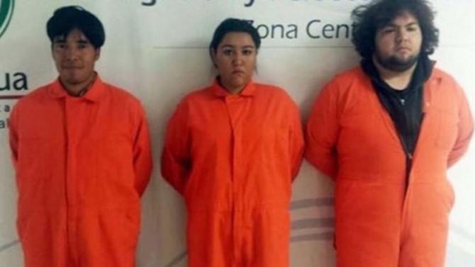 Gustavo Dorantes, Omar Sáncez e Iveth López, los tres detenidos por el crimen
