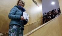 """La portavoz del PP en el Ayuntamiento de Madrid, Esperanza Aguirre, durante la presentación hoy de su nuevo libro """"Yo no me callo""""."""