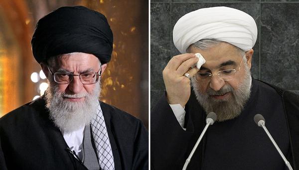 El Líder Supremo de Irán, Alí Jamenei (izq.), dejó caer recientemente que si el presidente, Hasán Ruhaní, fracasa a la hora de adoptar el enfoque de la 'resistencia económica', habrá consecuencias de cara a sus aspiraciones a un segundo mandato.