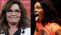 Azealia Banks (d) y Sarah Palin (i)