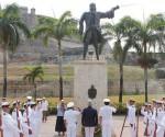 Homenaje a Blas de Lezo en Cartagena de Indias.