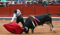El diestro Javier Castaño durante una lidia.