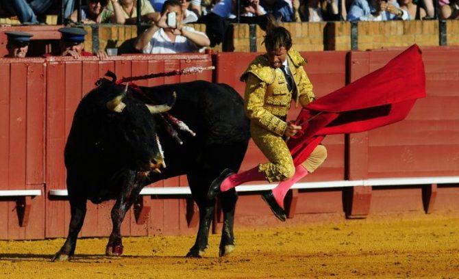 El torero Manuel Benítez el 20 de abril de 2013 en Sevilla